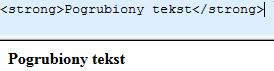 pogrubiony tekst html i seo