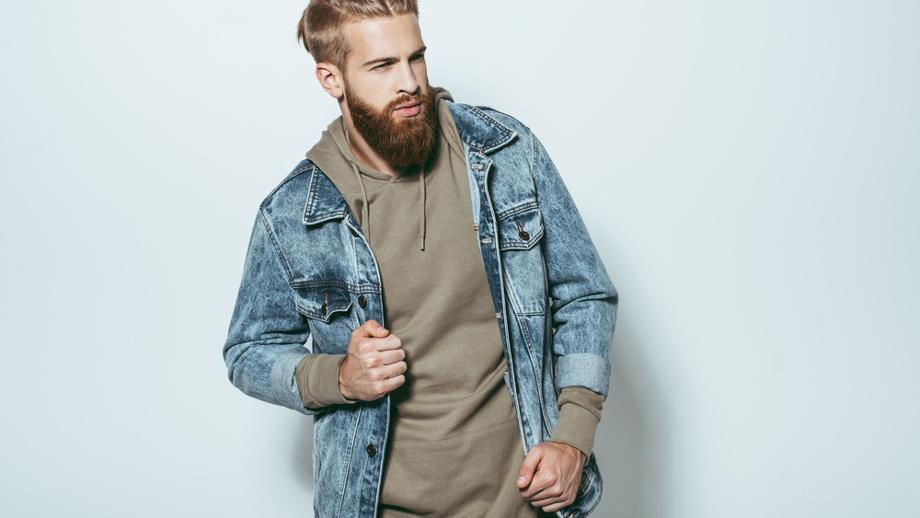 Modna kurtka jeansowa na jesień 2017 r. dla niego