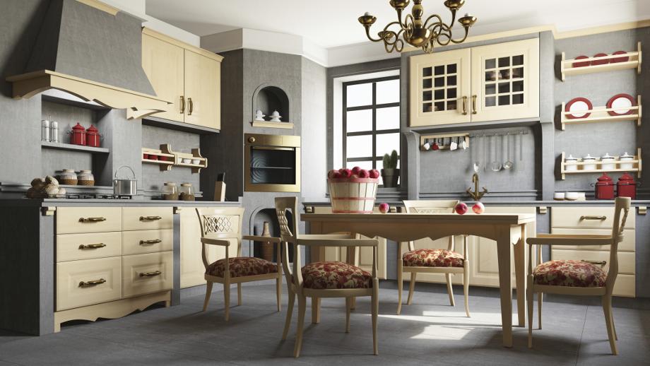 Kuchnia w stylu rustykalnym  Allegro pl