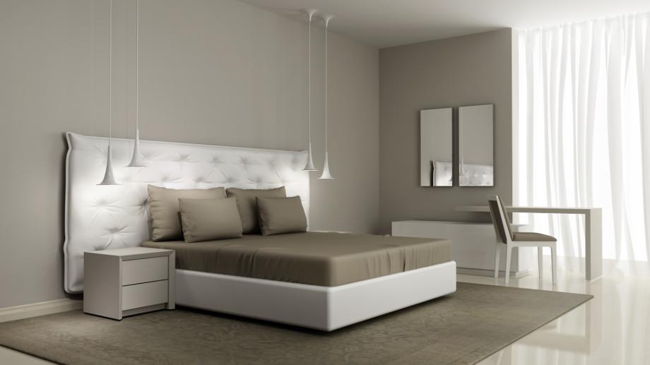 Sypialnia w stylu minimalistycznym - Combinacion de colores para habitaciones ...